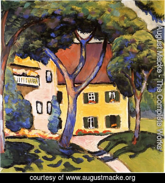 August Macke - Staudacher's House at Tegernsee