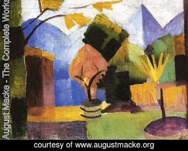 August Macke - Garden on Lake of Thun