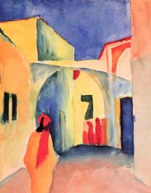 August Macke - View of an Alley