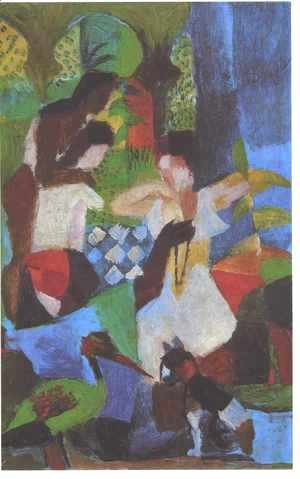 August Macke - Turkish Jewel Trader