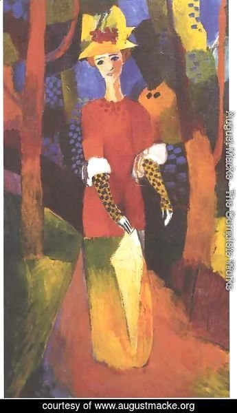 August Macke The Complete Works Woman in Park