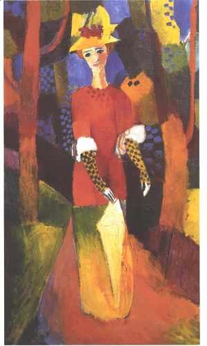 August Macke - Woman in Park