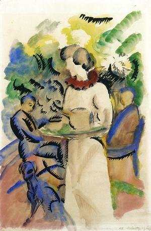 August Macke - Afternoon in the Garden