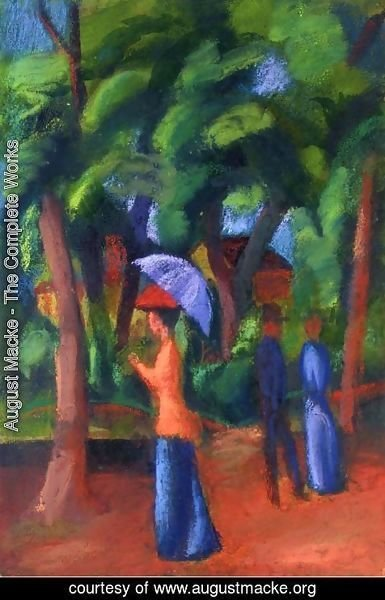 August Macke - Walking in the Park