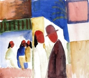 August Macke - On the Street