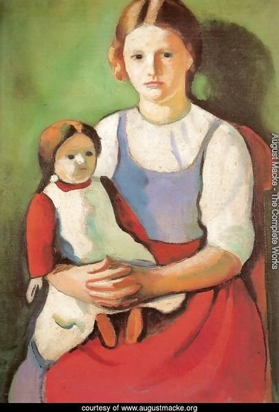 Blond Girl with Doll (Blondes Madchen mit Puppe)