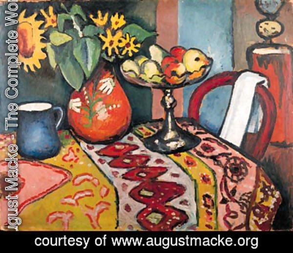 Stillleben Modern august macke the complete works stilleben mit sonnenblumen ii