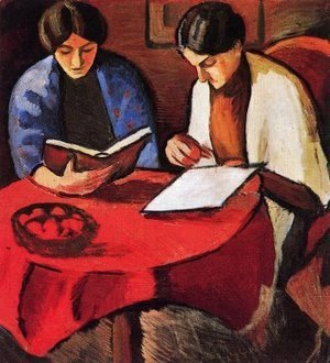 August Macke - Two Women at the Table