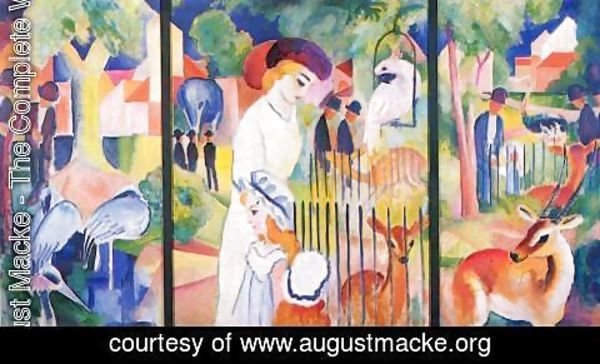 August Macke - Big Zoo, triptych