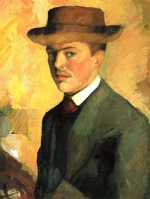 August Macke - Self-Portrait with Hat
