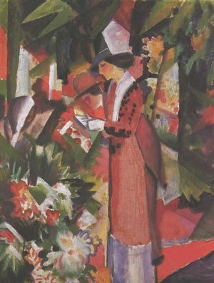 August Macke - Walk in flowers