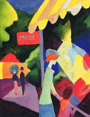August Macke - Fashion window