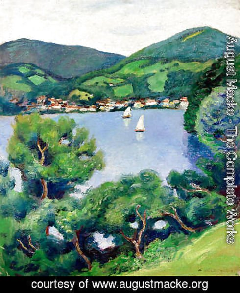 August Macke - View of Tegernsee