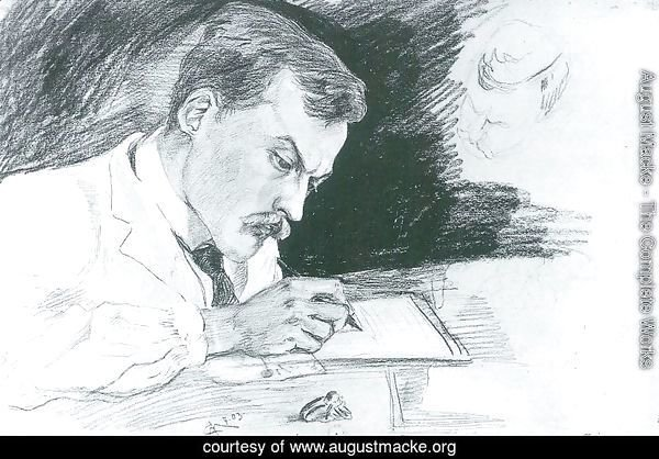 Portrait of Dr. Ludwig Deubner, writing