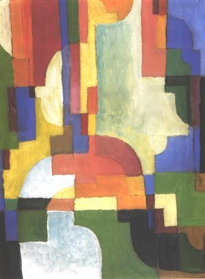 August Macke - Colourfull shapes 2