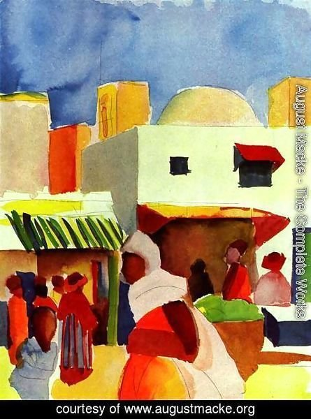 August Macke - Market in Algiers