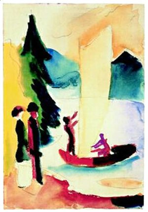 August Macke - Gelbes Segel