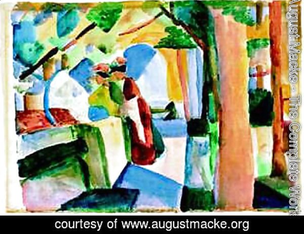 August Macke - At the cemetery