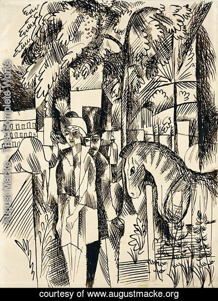 August Macke - In the zoological garden