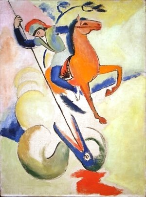 August Macke - St. George