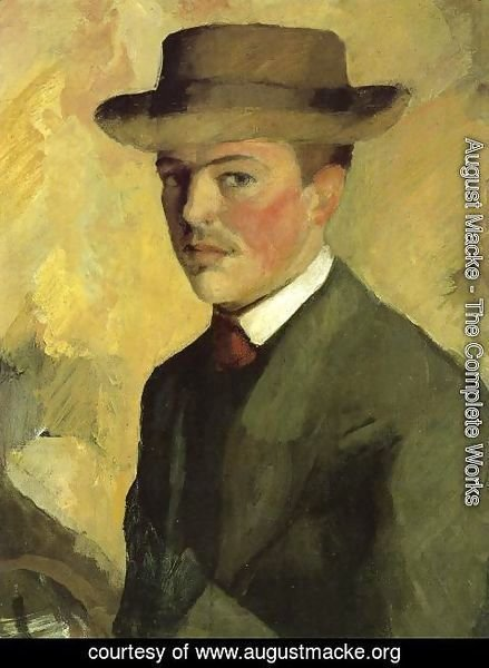 August Macke - Self Portrait 1909