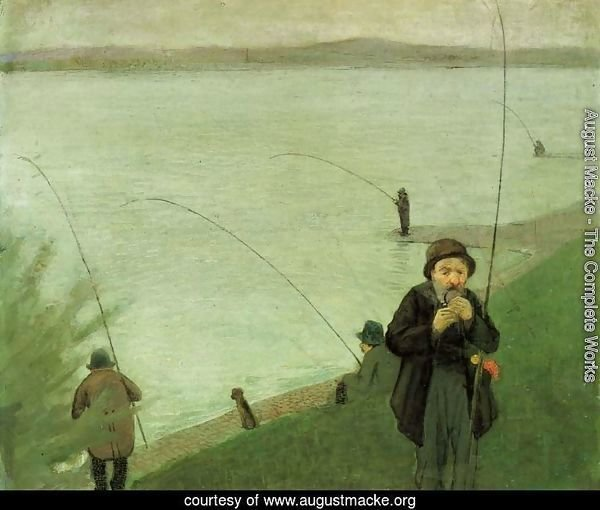 Fishing At The Rhine