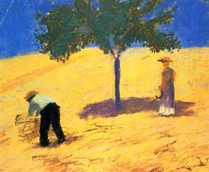 August Macke - Tree In The Grain Field