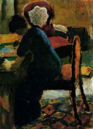 August Macke - Elisabeth At The Desk
