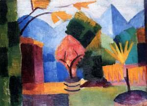 August Macke - Garden At The Thuner Lake