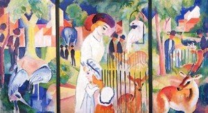 August Macke - A Zoological Garden