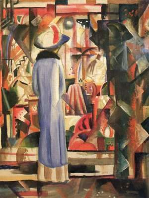 August Macke - A Large Light Shop Window