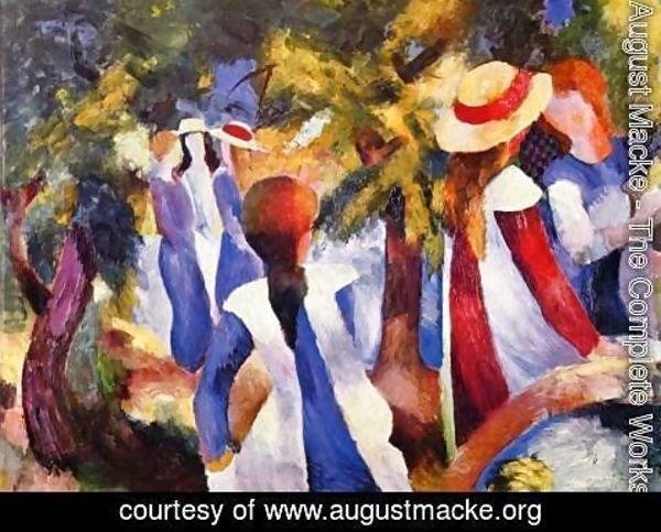 August Macke - Girls In The Forest