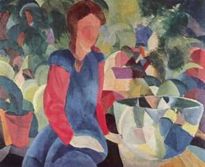 August Macke - Girl With Fish Bell