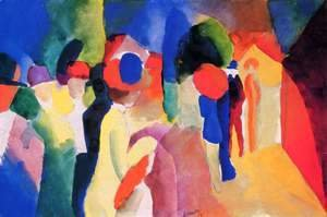August Macke - Girl With A Yellow Jacket