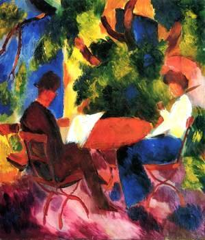 August Macke - Couple At The Garden Table