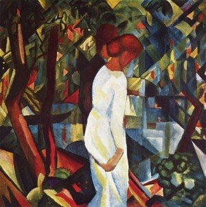 August Macke - Couple In The Forest