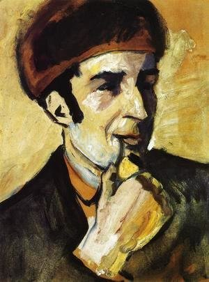 August Macke - Portrait of Franz Marc (Bildnis Franz Marc)  1910