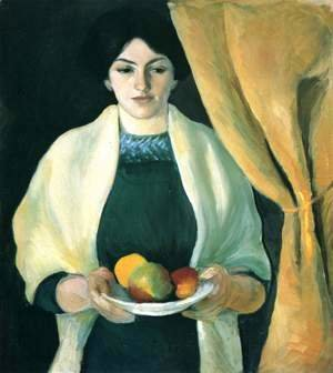 Portrait with Apples- Wife of the Artist  1909