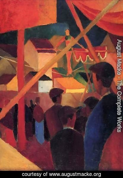 August Macke - Tightrope Walker (Seiltanzer)  1914