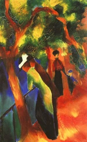 August Macke - Sunlight Walk (Sonniger Weg)  1913