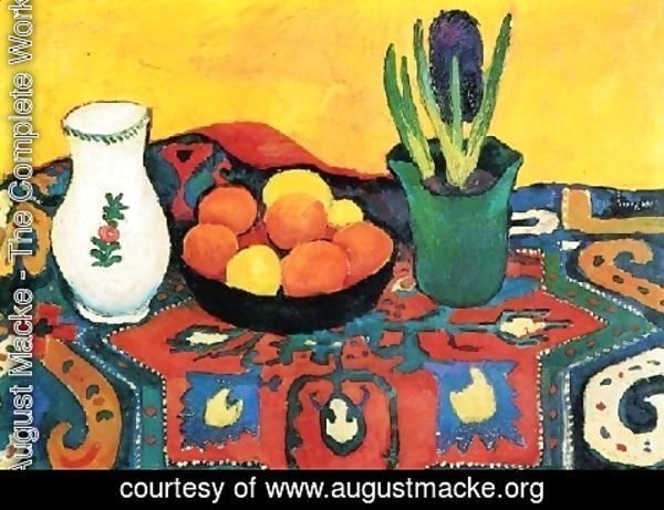 August Macke - Style Life With Fruits