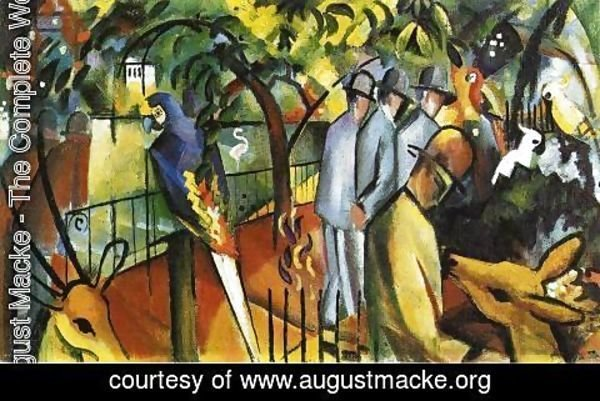 August Macke - Zoological Garden I  1912