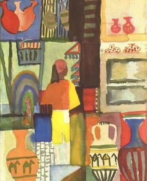 August Macke - Dealer With Pitchers