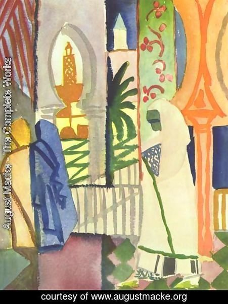 August Macke - In The Temple Hall