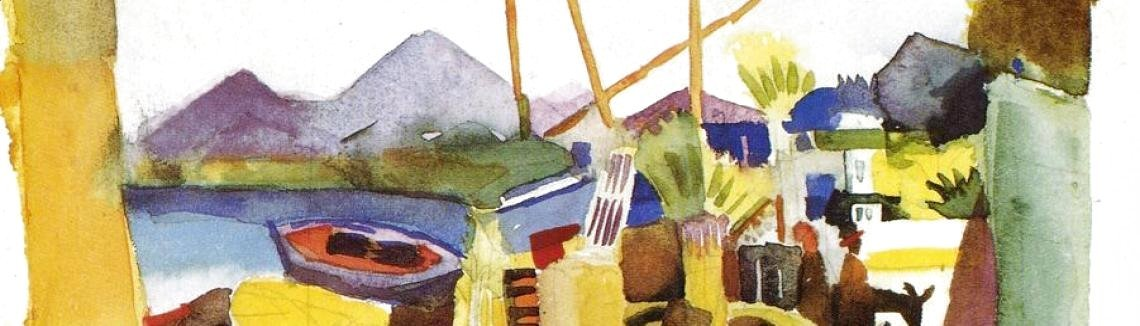 August Macke - Landscape In Hammamet