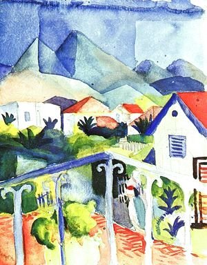 August Macke - St. Germain near Tunis  1914