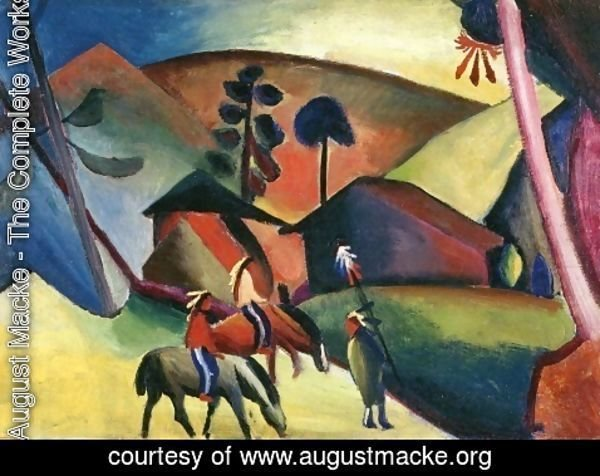 August Macke - Indians On Horseback