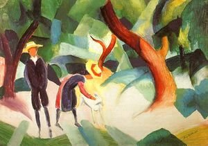 August Macke - Children with Goat (Kinder mit Ziege) 1913