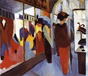 August Macke - Fashion Shop (Modegeschaft) 1913