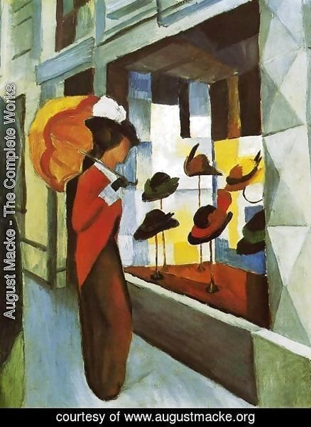 August Macke - Hat Shop (Hutladen)  1914